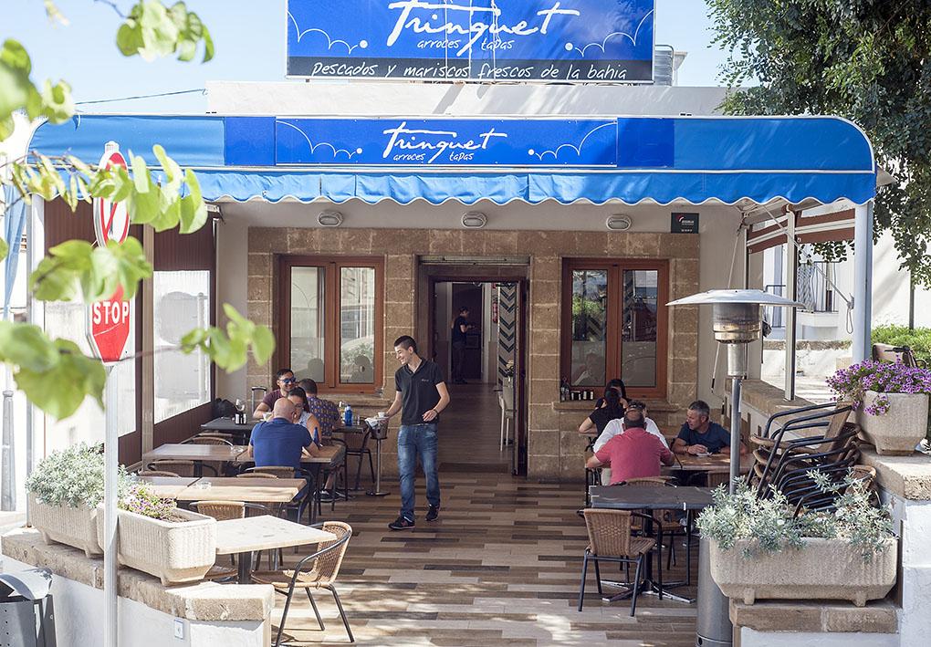 El restaurante está levantado sobre un antiguo trinquete de Jávea.