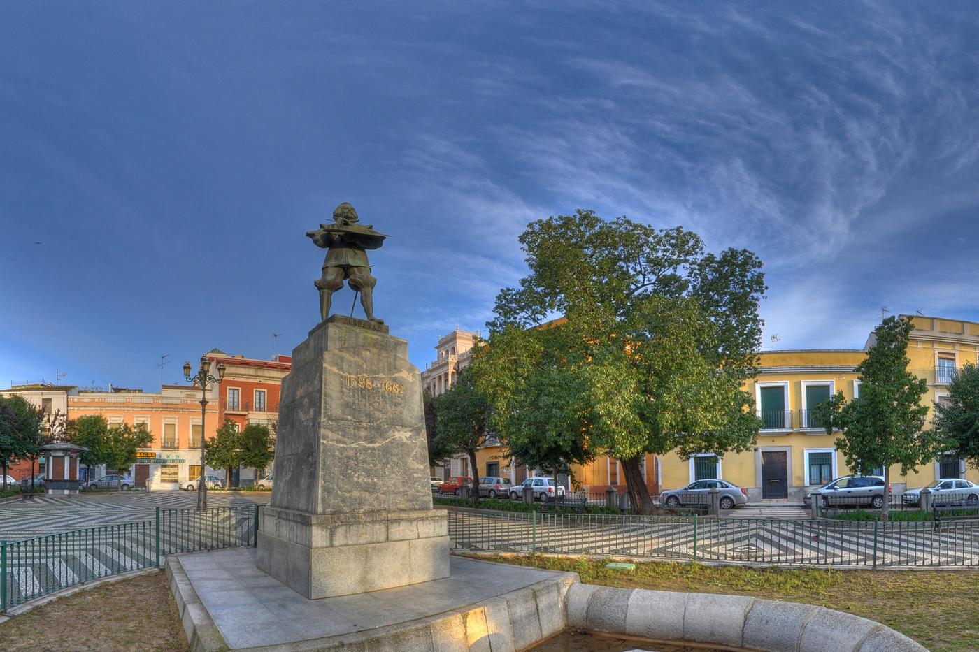 Plaza de Cervantes. Foto: Ayuntamiento de Badajoz.