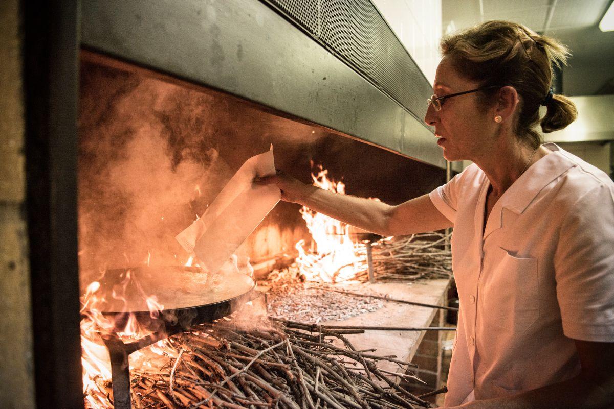 El arroz con conejo y caracoles de Josefa merece un capítulo aparte. Foto: Andrés Deltell.