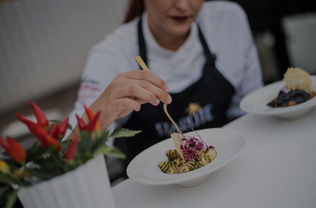 Detalle de uno de los platos del menú en el Festival Starlite de Marbella. Foto: Starlite.