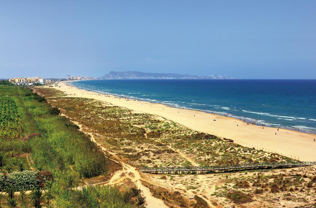 La bonita playa de L´Auir. Foto: Universitat Politècnica de València Campus de Gandia, Flickr.