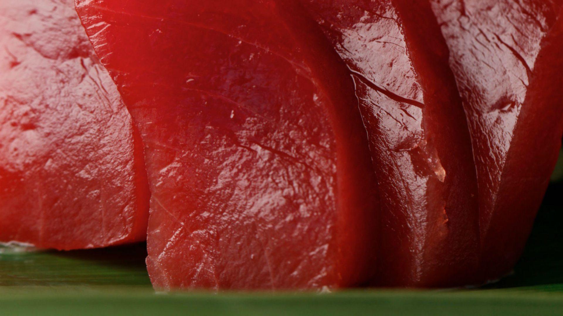 Plato estrella: Sashimi de ventresca de atún