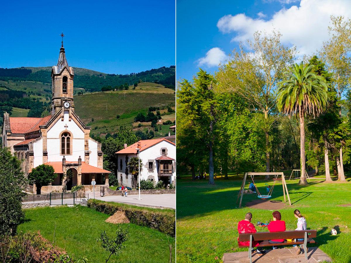 La parada en Ontaneda con su arquitectura y sus jardines es un descanso para todos. Foto: Age Fotostock