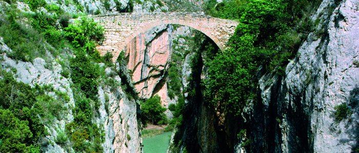 Puente del Diablo entre Graus y Barbastro.