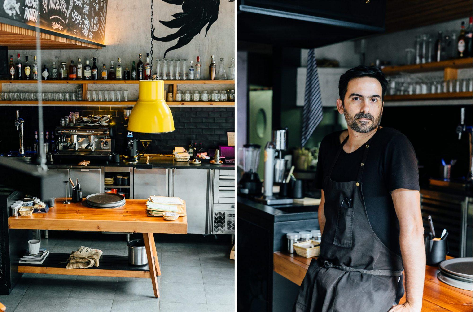El chef argentino Nico Circo le da un punto casero a todos los platos en un local con estética industrial. Foto: DooBop.
