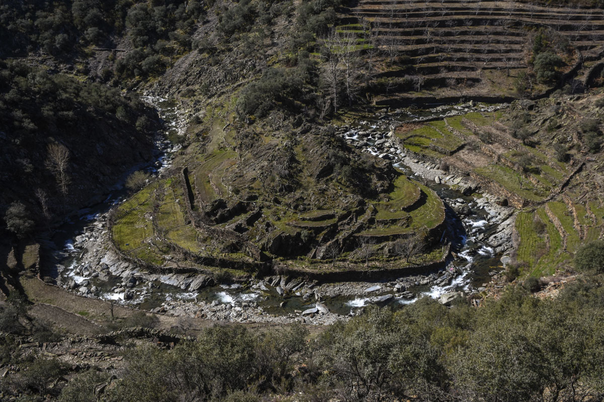 Los meandros del río Malvellido cerca del Gasco tienen todo el encanto de la comarca.