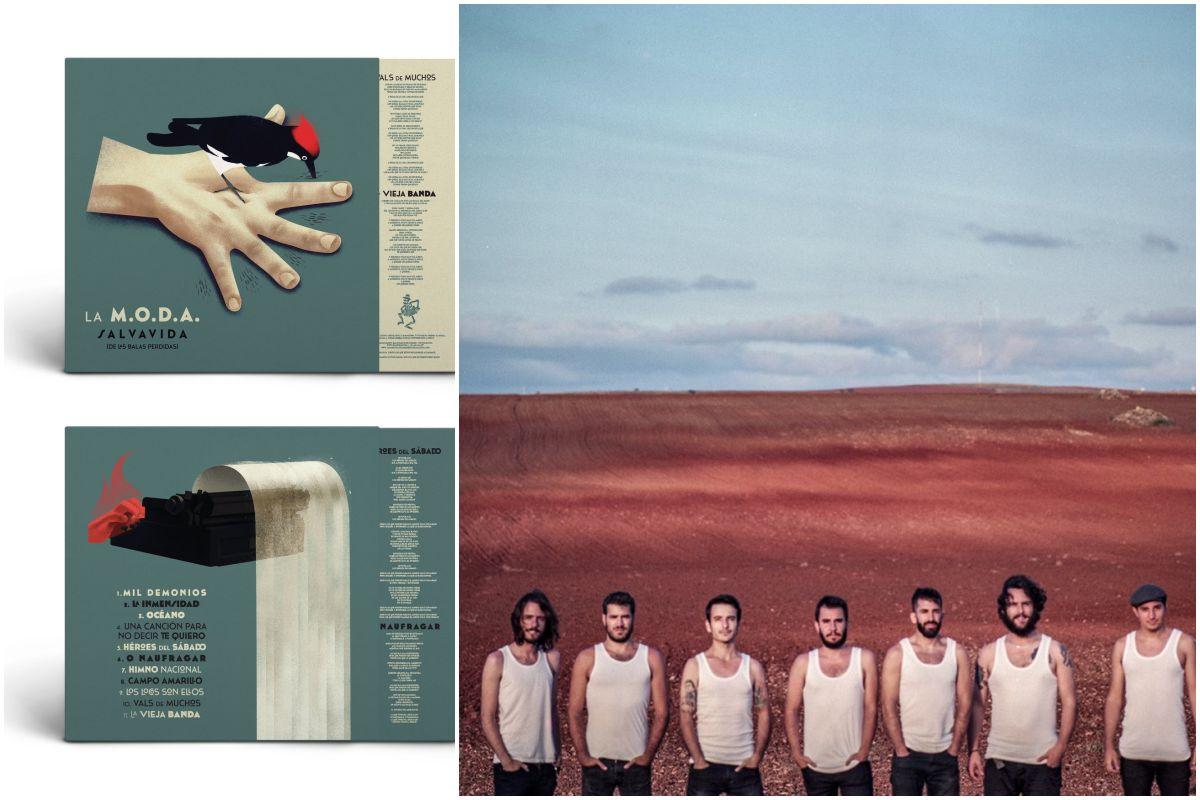 Portada y contraportada del nuevo disco de La MODA y el grupo. Foto: PRMVR