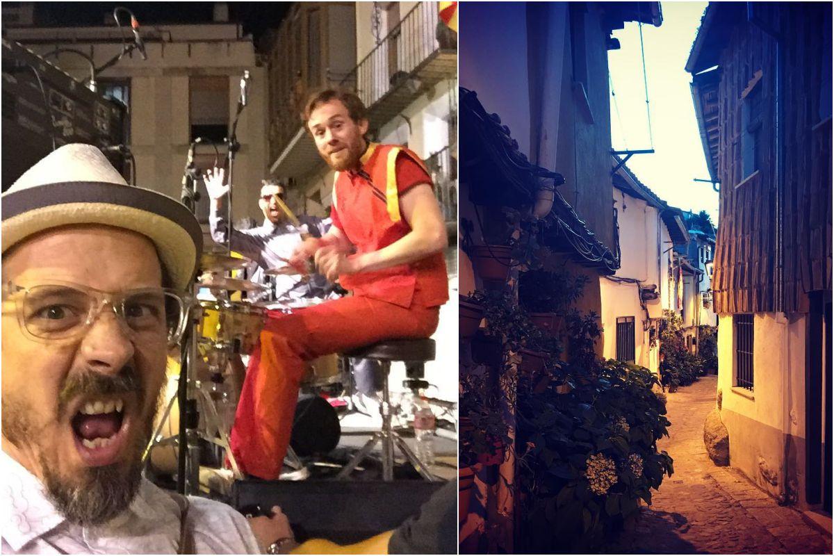 Disfrutando de los Kevin Bacon en Tarazona, Zaragoza, y de turismo por las calles de Hervás, en Cáceres.
