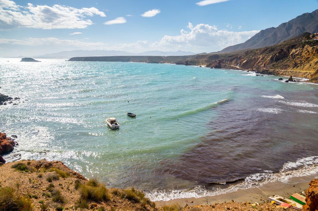 Playa de Bolnuevo, en Mazarrón. Foto: Shutterstock.