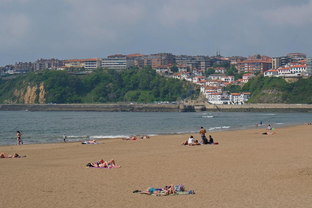 Playa de Ereaga, en Getxo, Vizcaya.