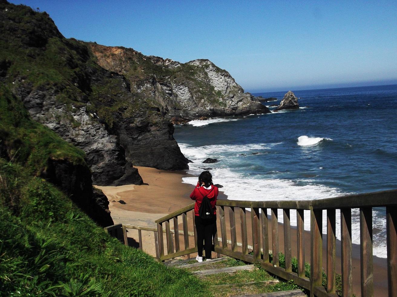 El fuerte oleaje en O Picón. Foto: Amaianos, Flickr (CC).