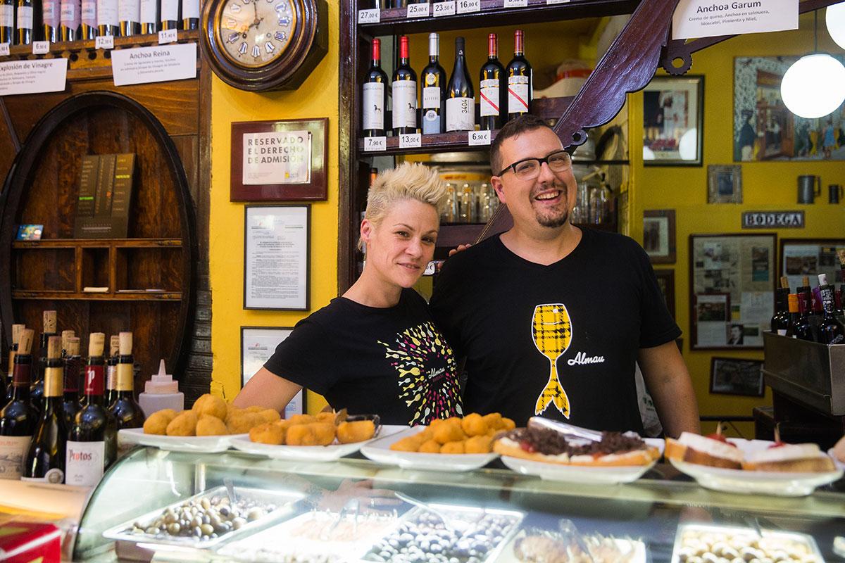 El Tubo, Zaragoza: 'Bodegas Almau'. Foto: Raquel Jiménez