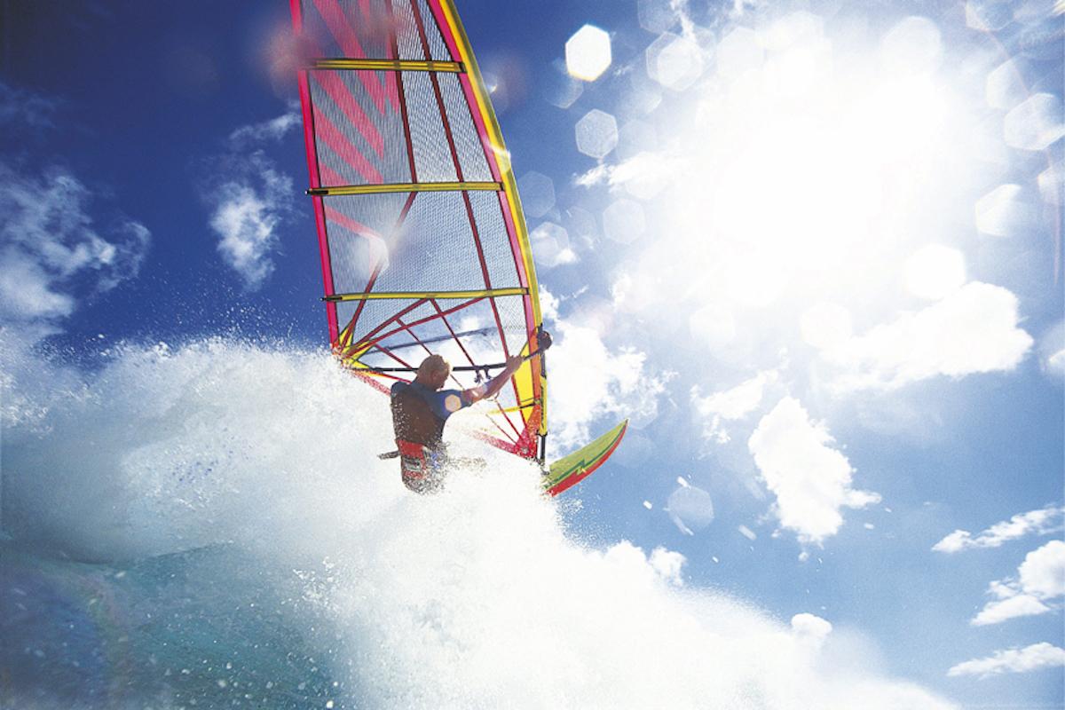 Prácticas de windsurf.