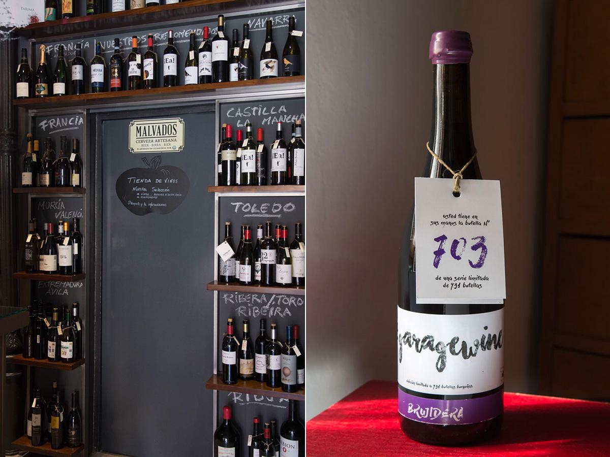 El 'Bar Korokke' ofrece el vino Brujidero de la micro bodega Garagewine de Quintanar de la Orden.
