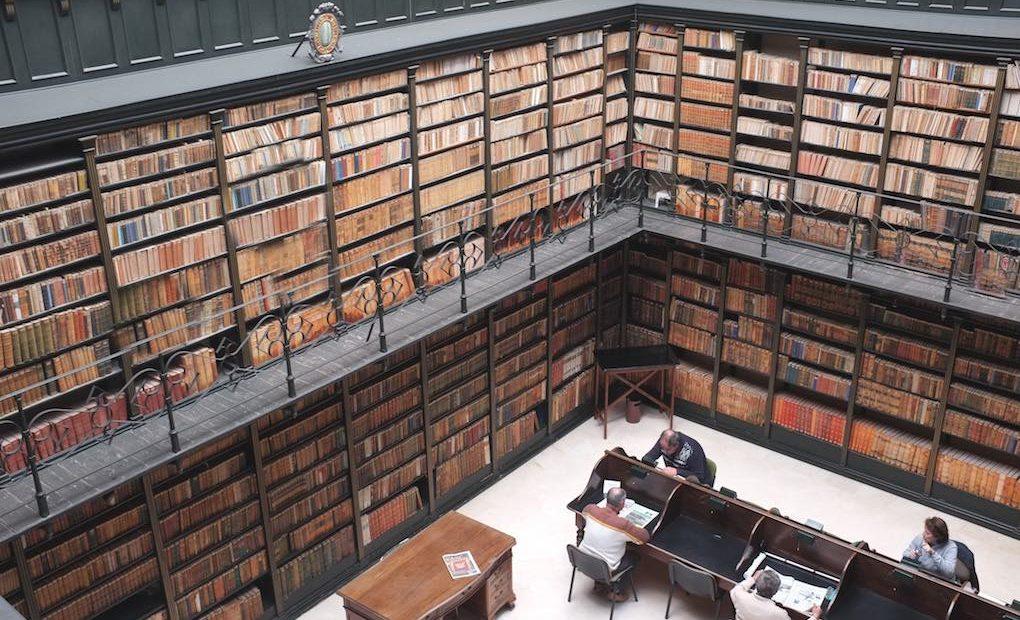 Sala de investigadores de la Biblioteca Archivo Municipal de Jerez. Foto: Biblioteca Archivo Municipal de Jerez.