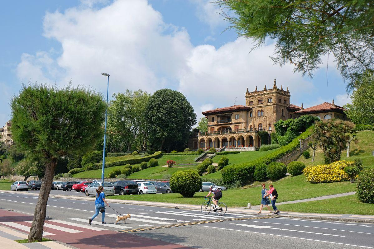 Vista del palacio Lezama-Leguizamón, en Getxo (Vizcaya).