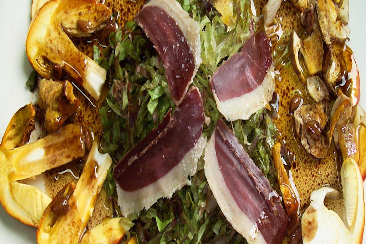 Setas con jamón de pato ¿apetece verdad?. Foto: Los Calizos.