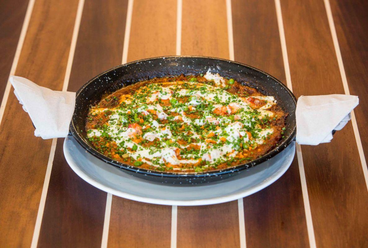 Arroz con bogavante Señorito del restaurante Cormorán by Sergi Arola, en Santander. Foto: Cormorán by Sergi Arola.