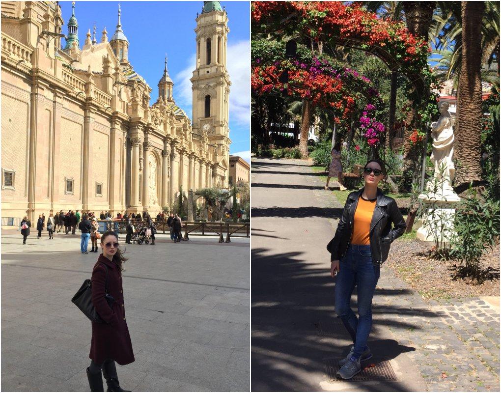 Frente a la Basílica del Pilar (Zaragoza) y en el Parque García Sanabria (Tenerife). Fotos cedidas.