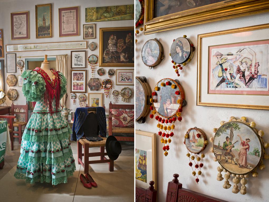 Vestido de Cayetana y traje de montar de la emperatriz en el tablao de la duquesa.