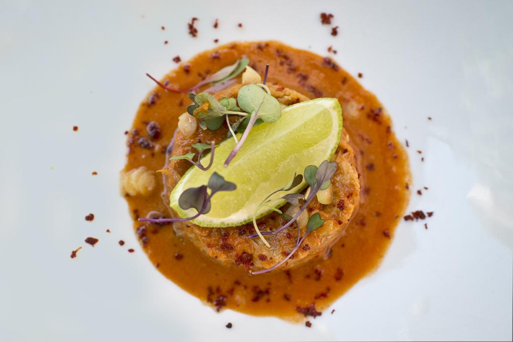 El punzante chili crab de txangurro.