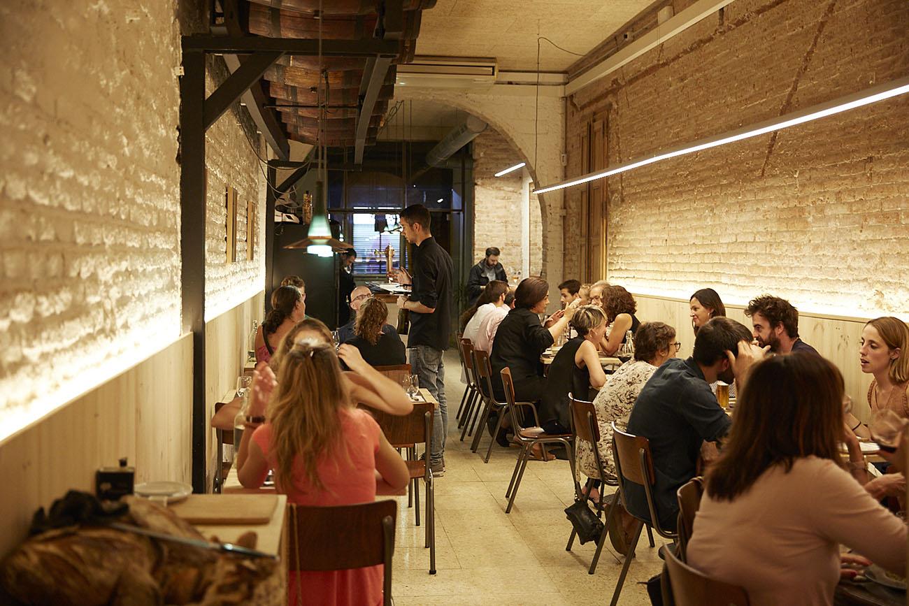 Comedor del restaurante 'Teoric' (Barcelona). Foto: Xavier Torres-Bacchetta