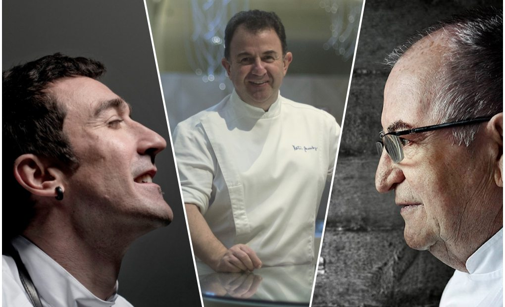 Los tres grandes de la cocina vasca