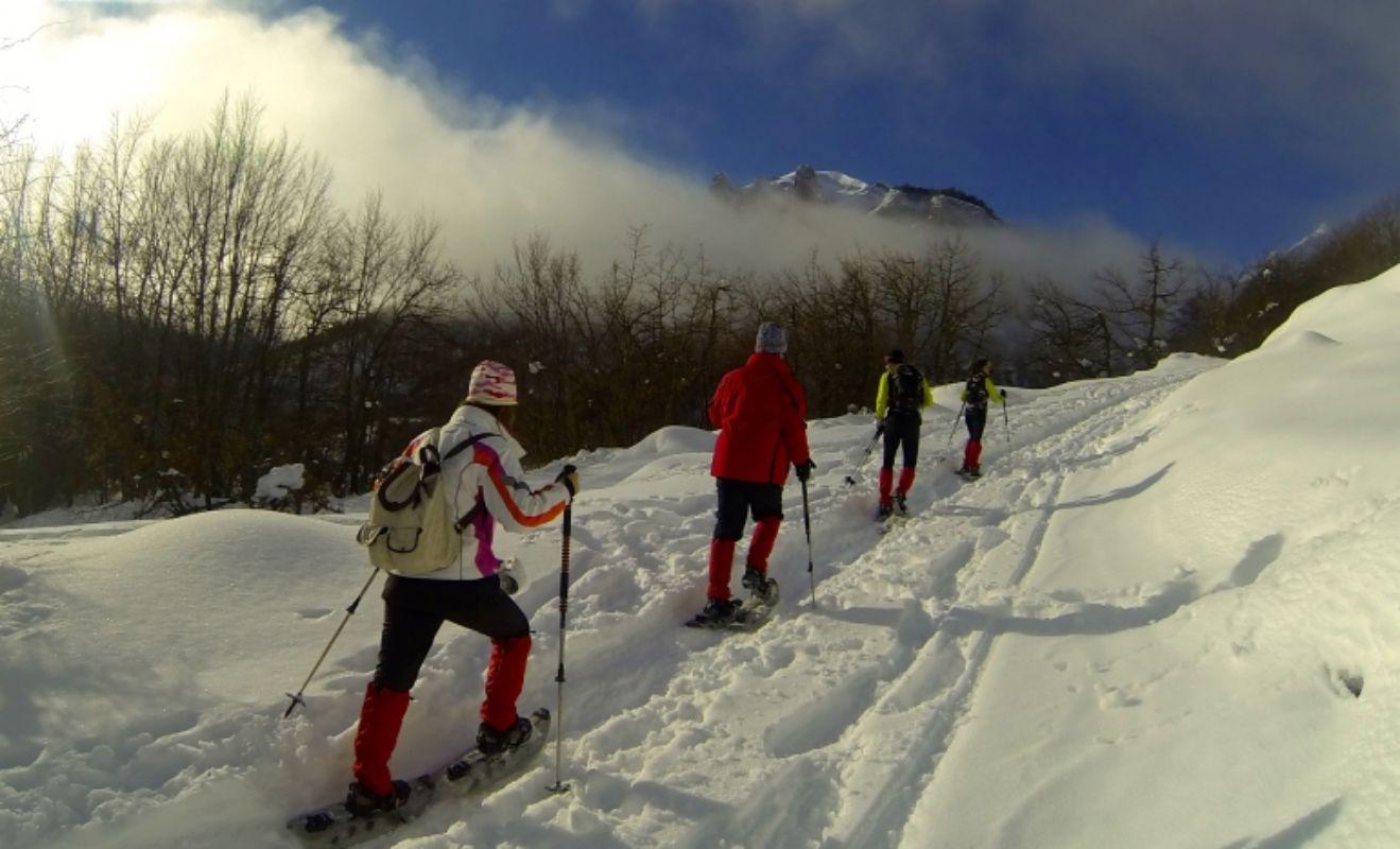 El disfrute del paisaje nevado está al alcance de todos. Foto: PicosXtreme.