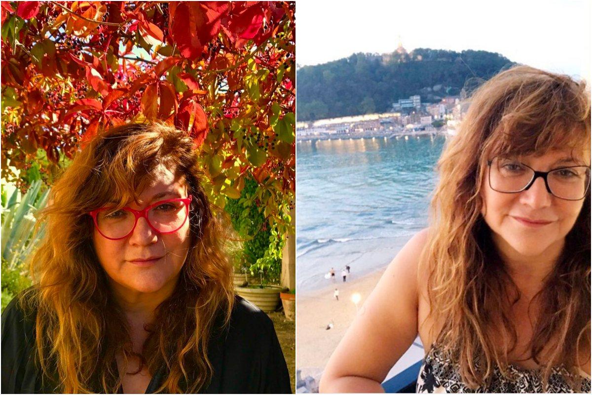 Isabel Coixet descansando en la playa y al fresco en un jardín. Fotos: Instagram.