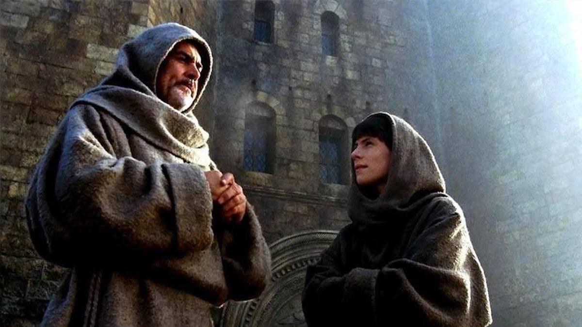 Sean Connery y Christian Slater en la película de 'El nombre de la rosa'.