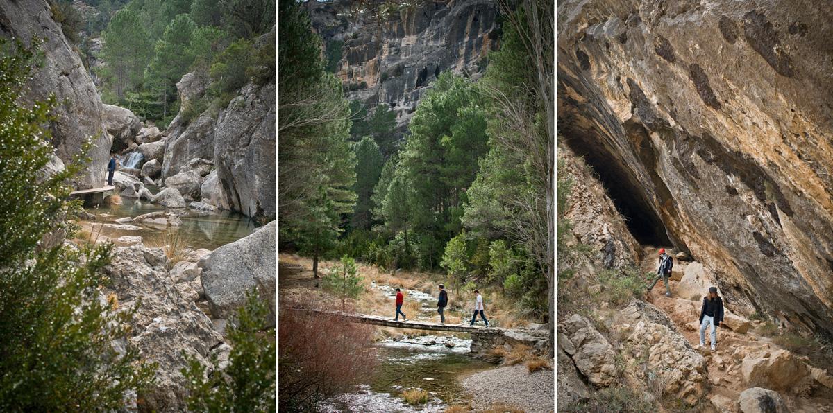 Ruta por la garganta del Parrisal, ascendiendo hasta el nacimiento del río Matarraña (Beceite).