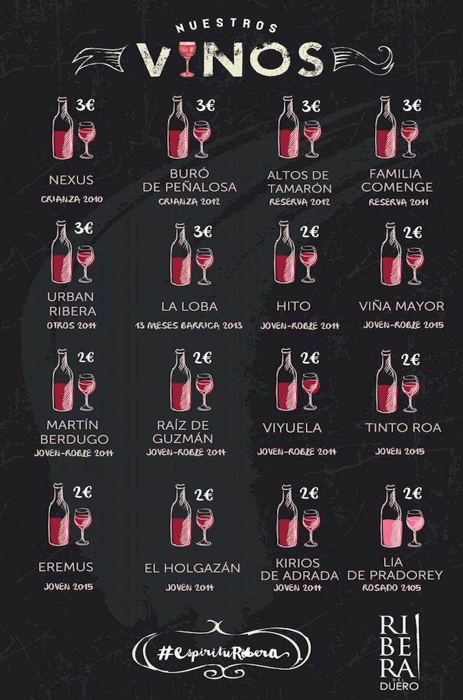 Algunos de los vinos que se servirán en el Festival. Foto: Ribera del Duero / Twitter