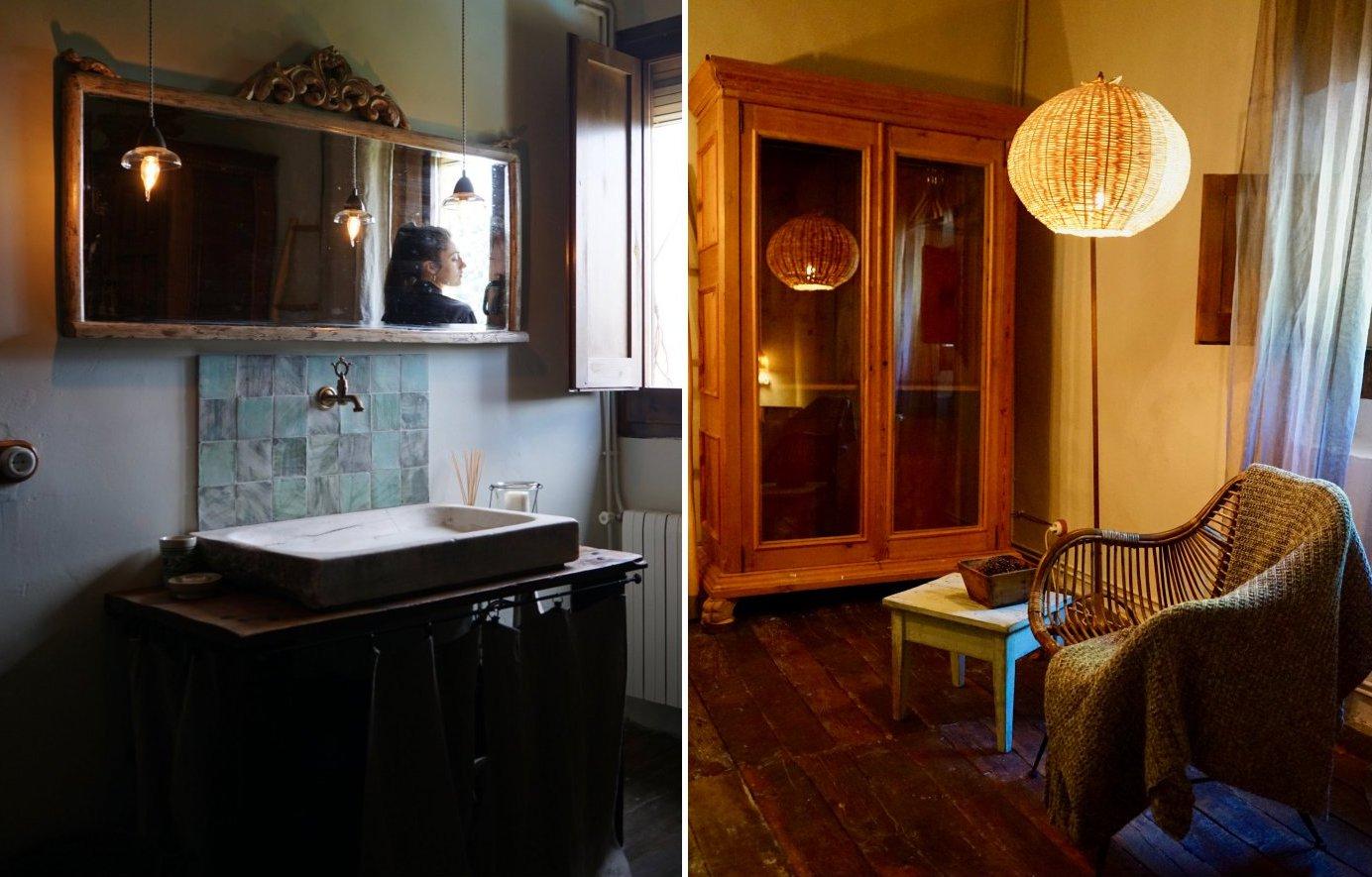 Hotel rural 'Mas El Mir': baño y decoración rústica
