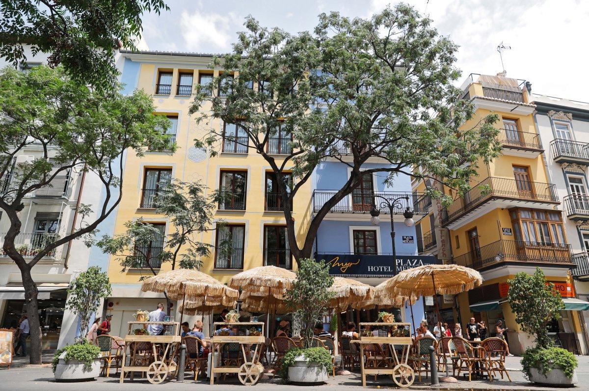 Restaurante El Rincón del Mercado (Valencia): terraza