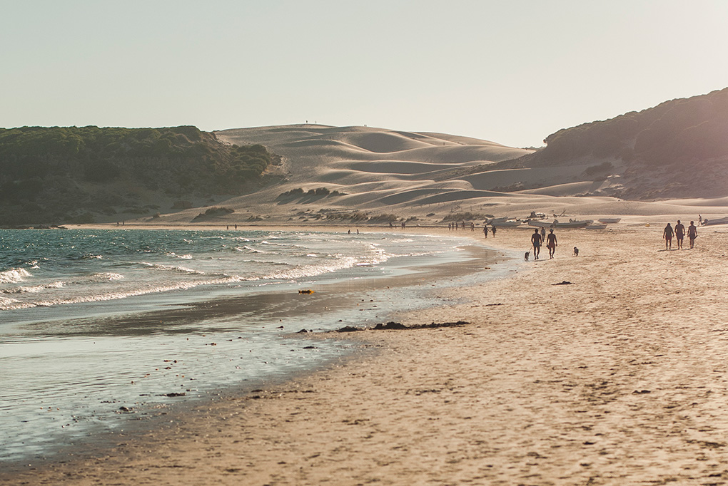La impresionante Playa de Bolonia.