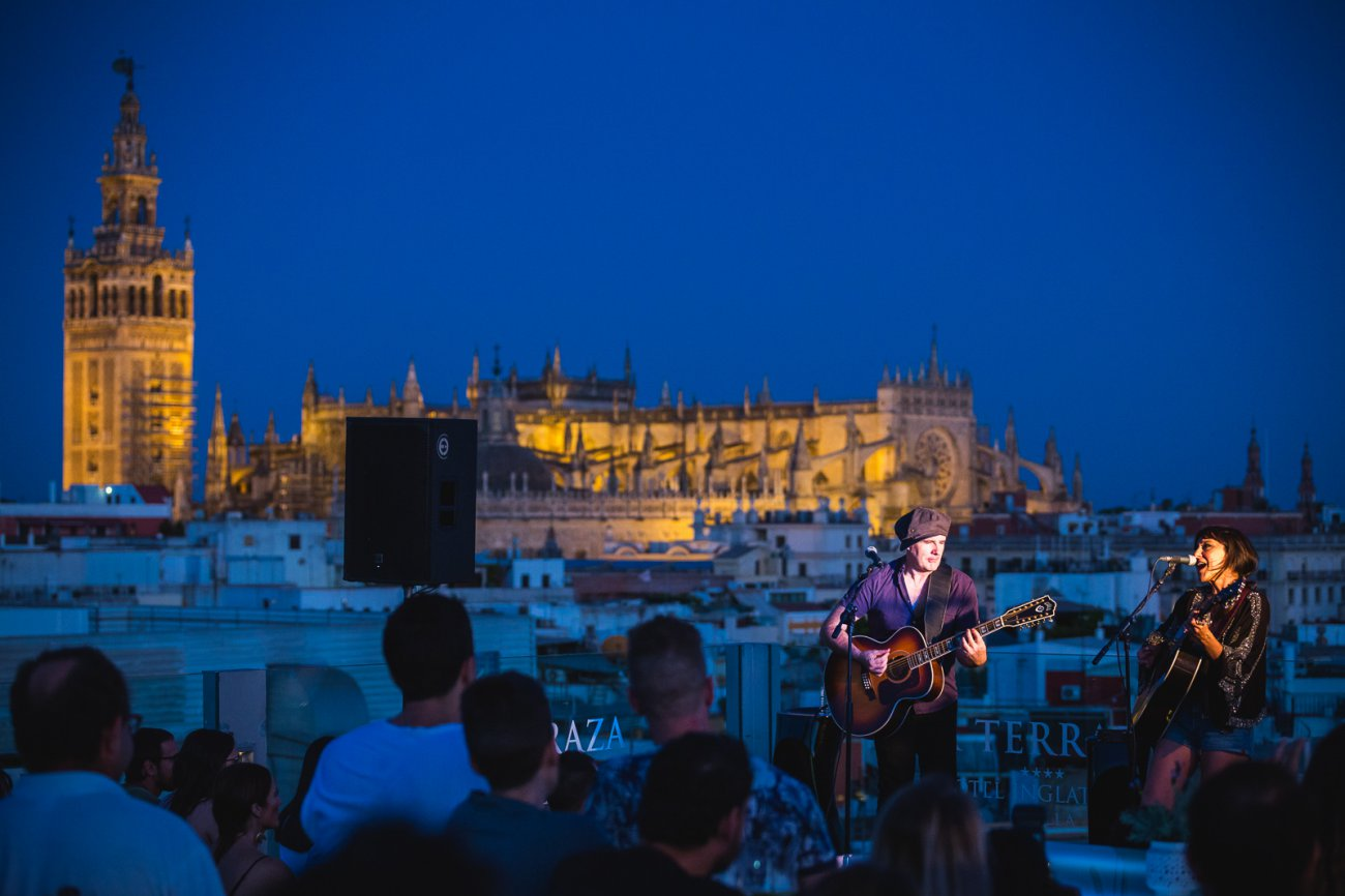 Planes Sevilla: terraza del 'Hotel Inglaterra'.