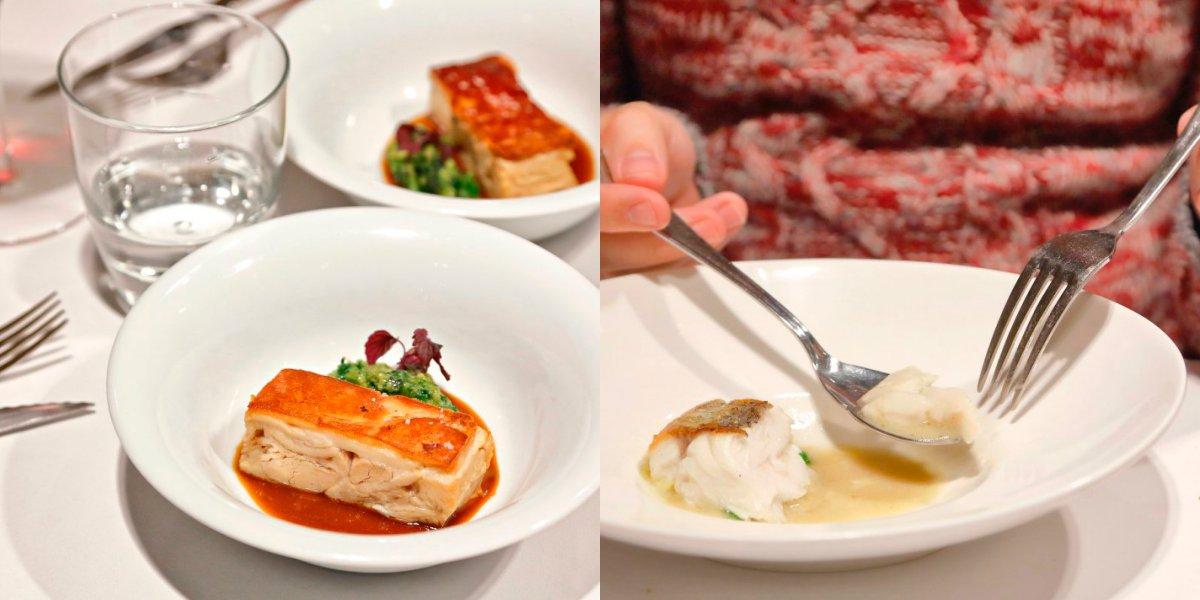 Carne y pescado, dos indispensables en el menú degustación.