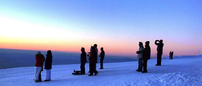 Atardecer desde el Veleta. / Imagen cedida por:Cetursa Sierra Nevada.