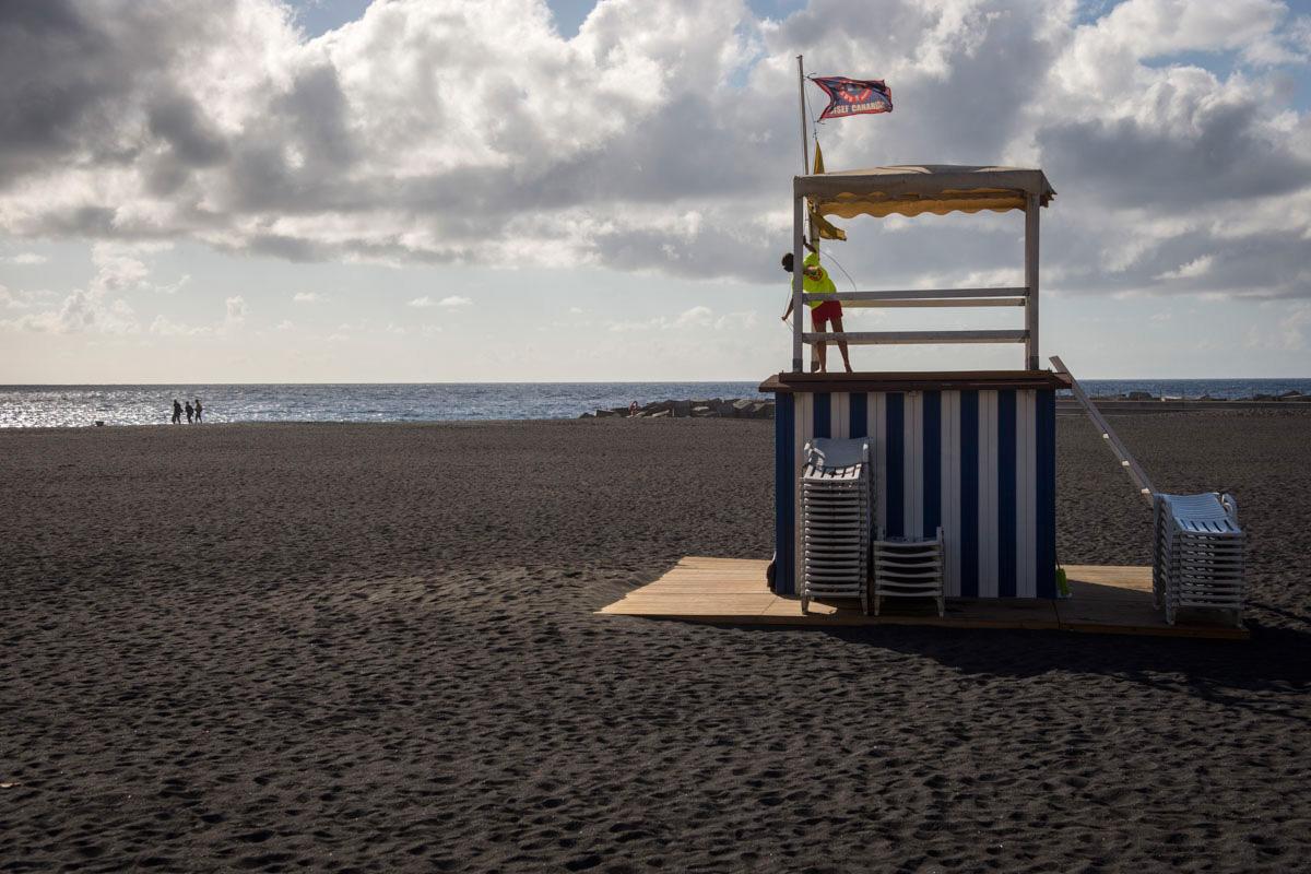 La playa en el centro de Santa Cruz de La Palma.