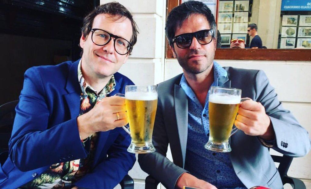 Joaquín Reyes y Ernesto Sevilla. El primero es fan de la cocina vegetariana, del sushi y... de la cerveza. Foto: cedida.