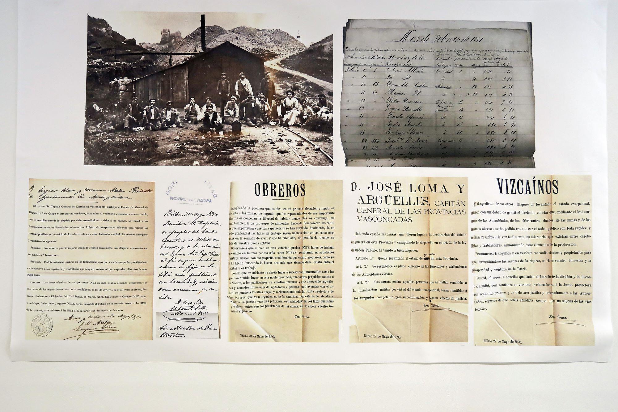 Documentos que, de alguna manera, escribieron la historia de los mineros vascos.