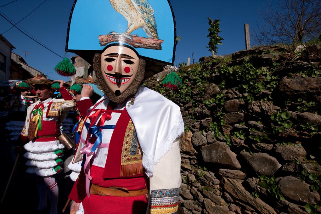 Un buen peliqueiro nunca se quita la máscara, pase lo que pase. Foto: Nacho Calonge.