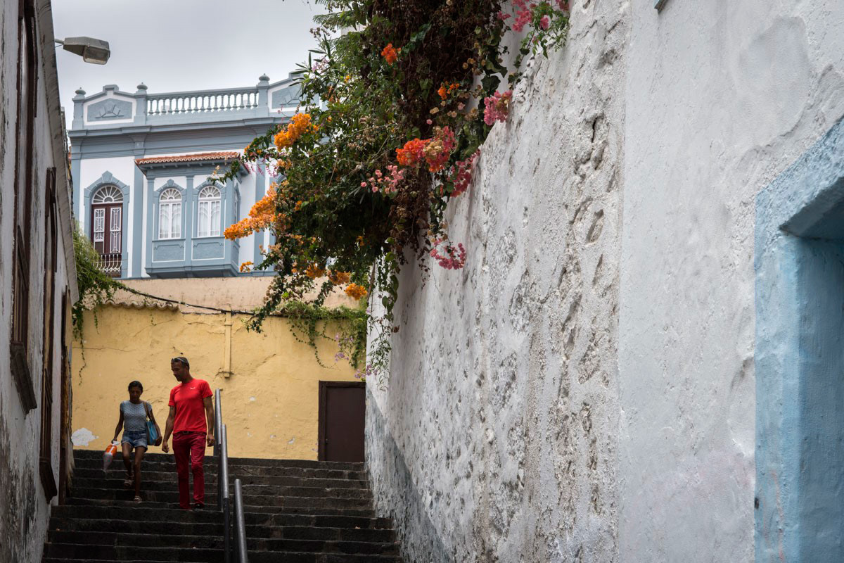La Palma: Escalinatas calle Viera