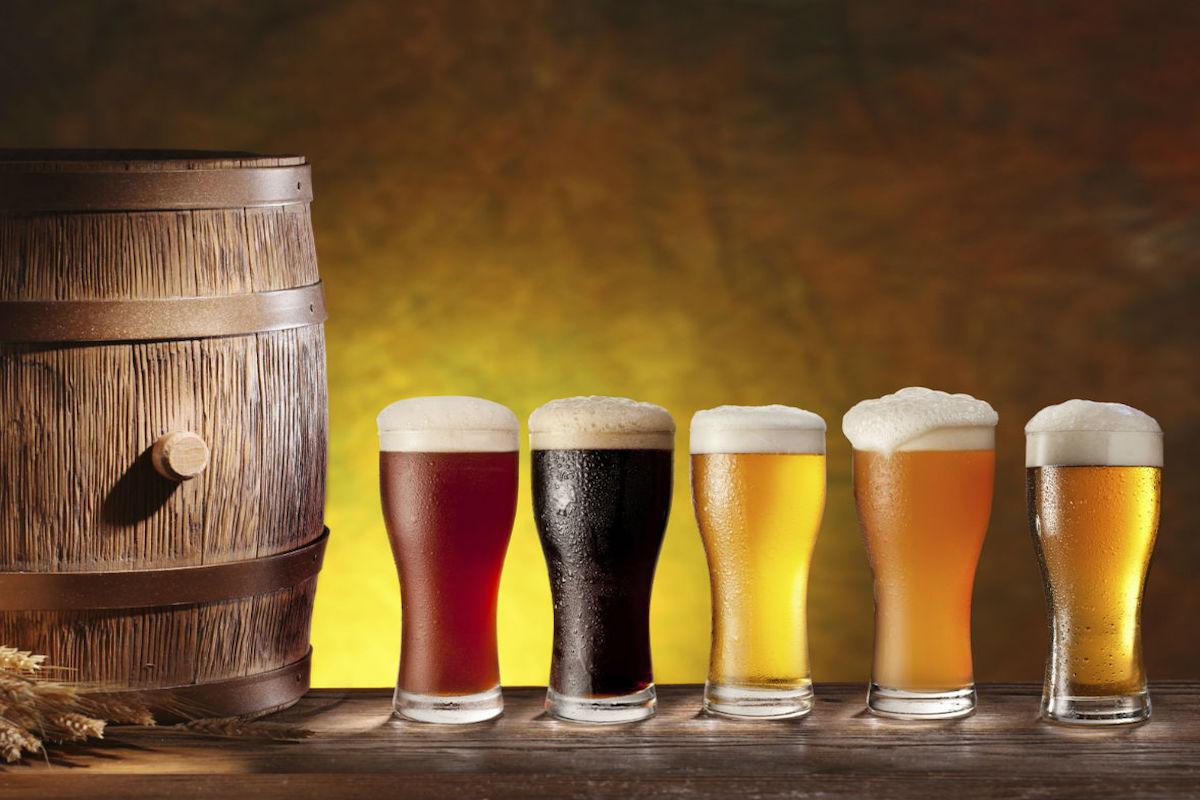 Distintos tipos de cerveza artesanal.