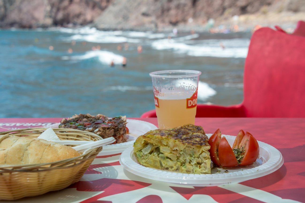 'Kiosco Kraken' (Playa de Las Gaviotas): tapas