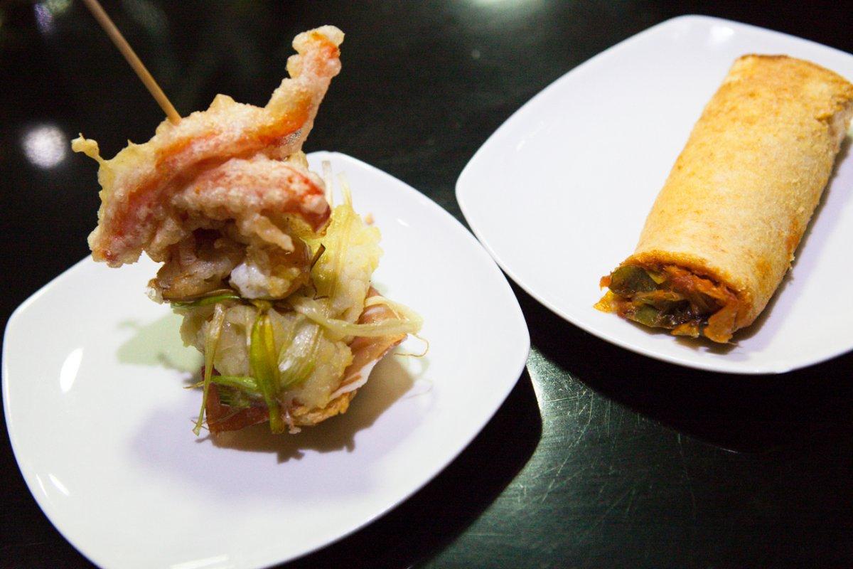 Las verduras rebozadas son las protagonistas del 'Moncayo'.