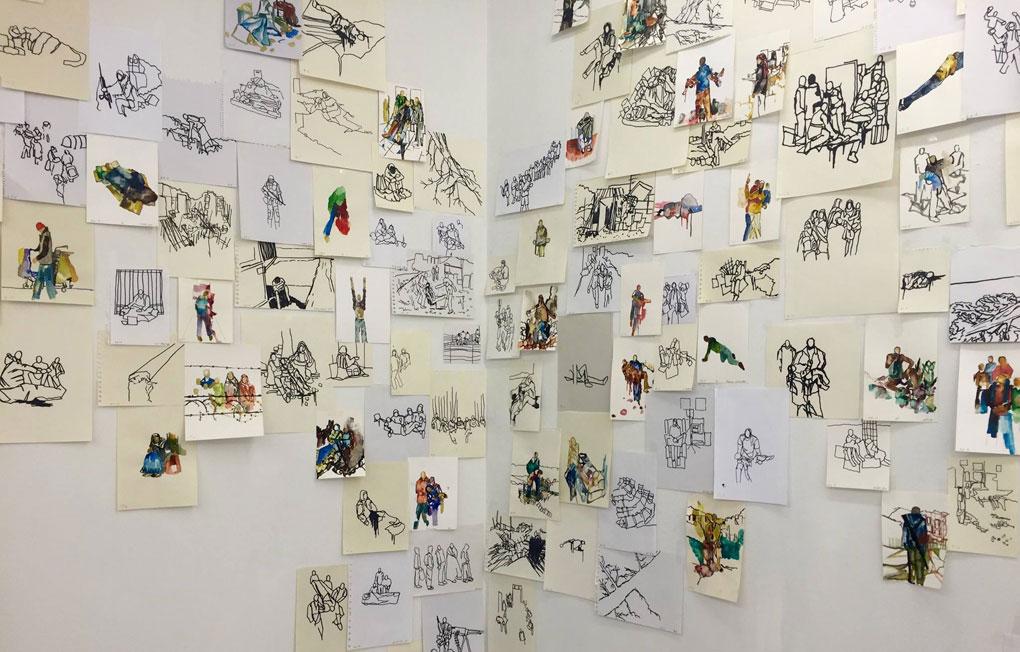 Foto: Alfredo Igualador. Todo este caer, 2014-2016, Courtesy Galería Magda Bellotti, Madrid. Drawing Room.