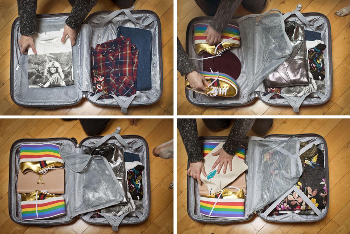 Aprovecha bien cada hueco de tu maleta.