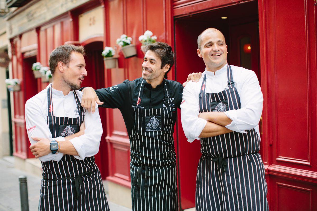 Javier Mayor, David Alonso y Javier Goya, las tres patas del negocio. Foto: Jimena Ronquero (Triciclo).
