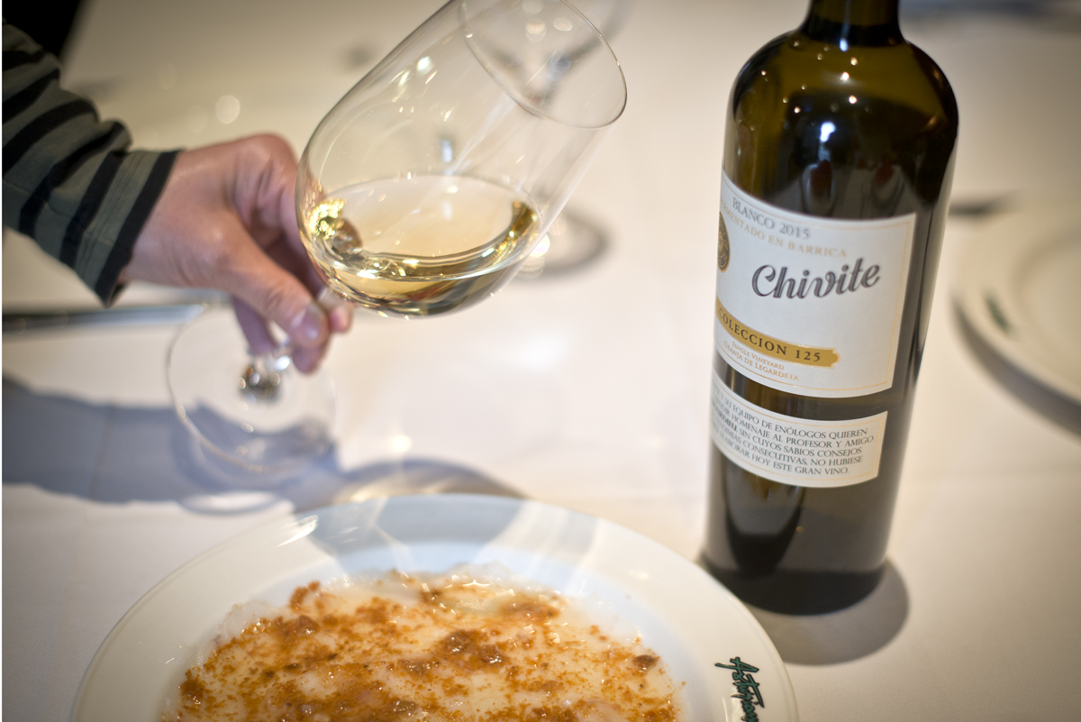 Chivite 125, probablemente el mejor chardonnay de España.